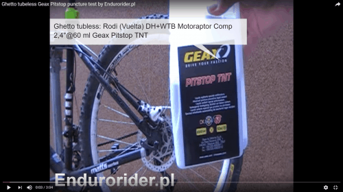 Test uszczelniacza Geax Pitstop TNT